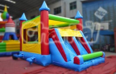 dual lane slide bouncy house castle