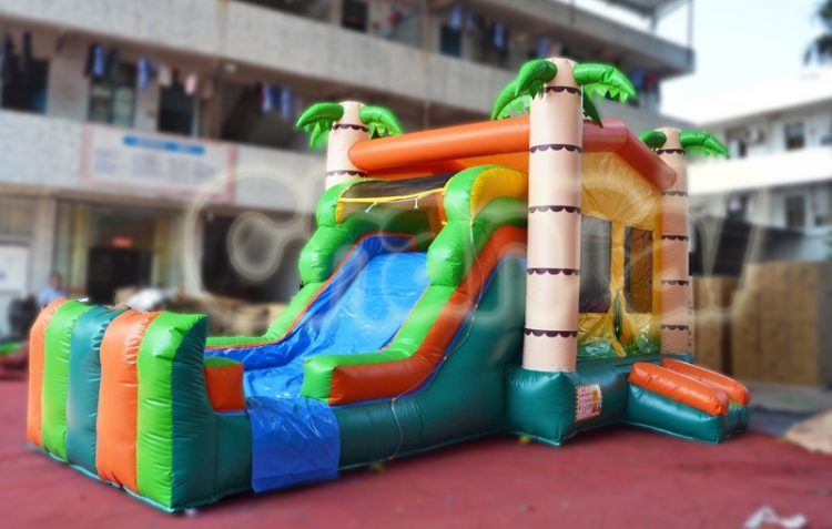 palm tree inflatable water combo