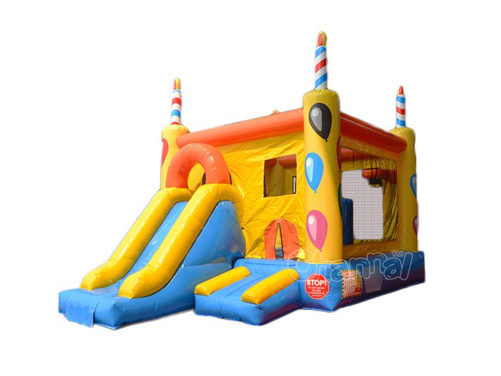 birthday theme inflatable combo
