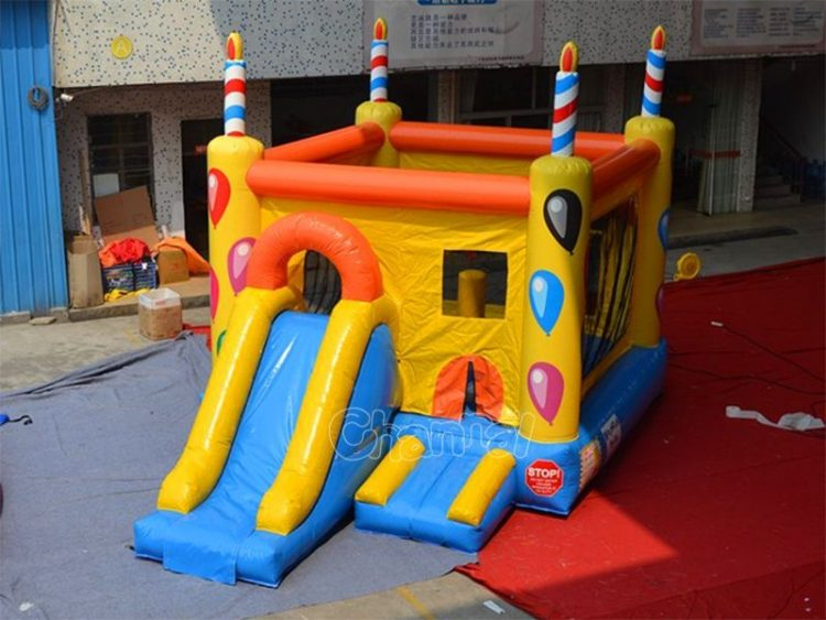 birthday bounce house with slide