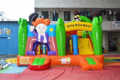 cute wild west inflatable combo