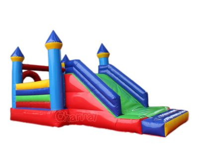 bouncy castle with basketball hoop