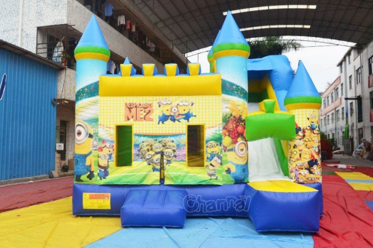 despicable me 2 minion bounce house with slide