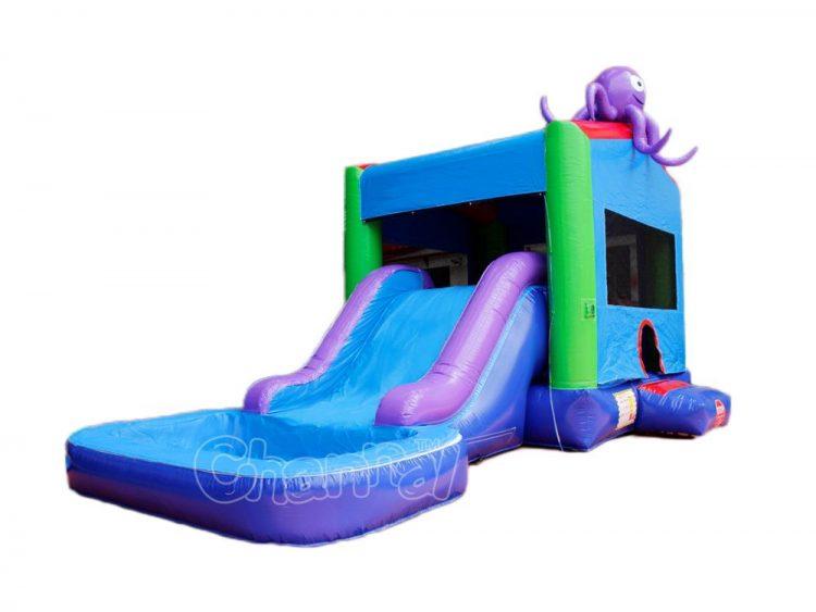 octopus inflatable water slide combo