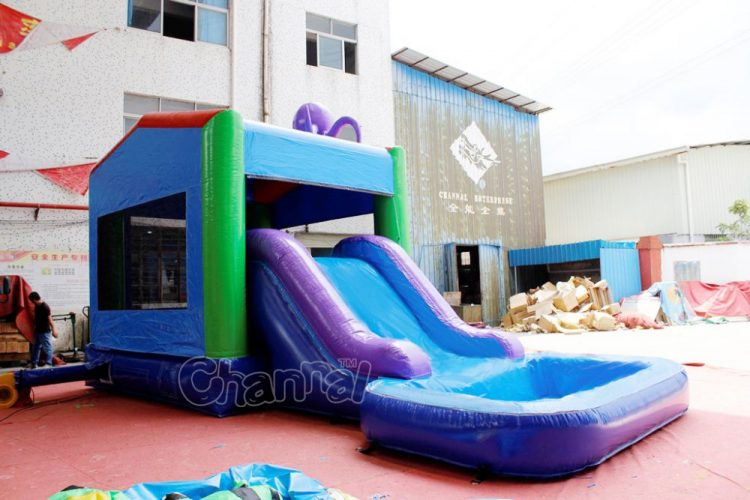 octopus inflatable water combo with slide