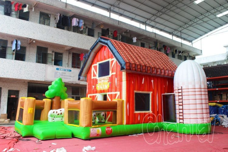 red barn bounce house for sale