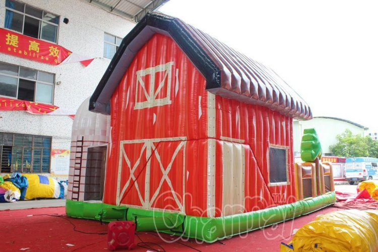 barn shaped bounce house