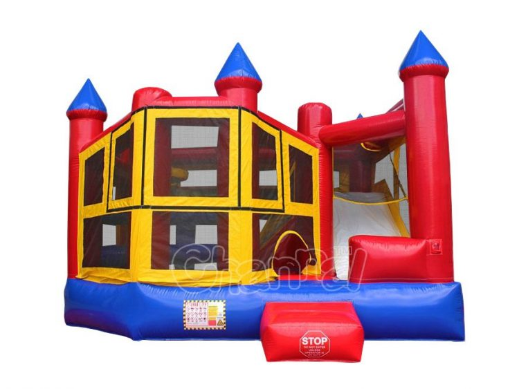 modular 5 in 1 jumping castle with slide