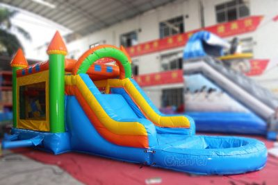 water bounce house with pool