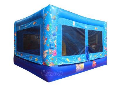 ocean theme mini inflatable jump house for kids