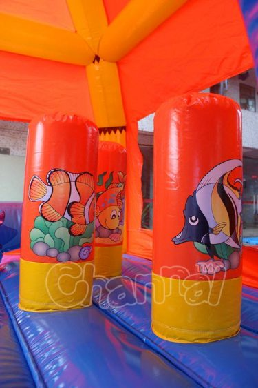 fish pop ups in bounce house
