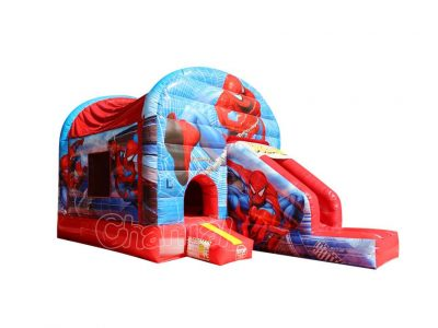 spiderman bounce house with slide for sale