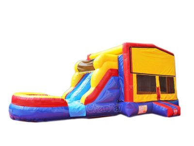 modular bouncy castle with double water slide