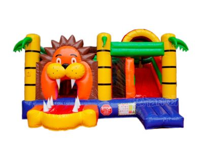 jungle lion inflatable combo