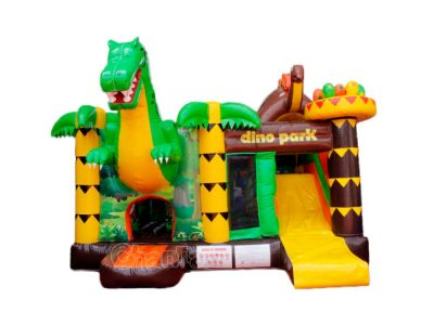 dino park inflatable combo with slide