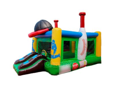 buy baseball themed bounce house with slide