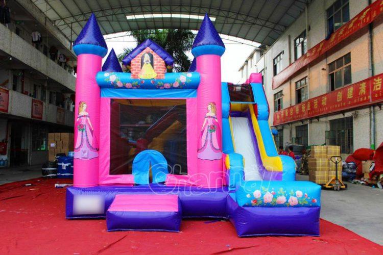 princess inflatable combo with slide