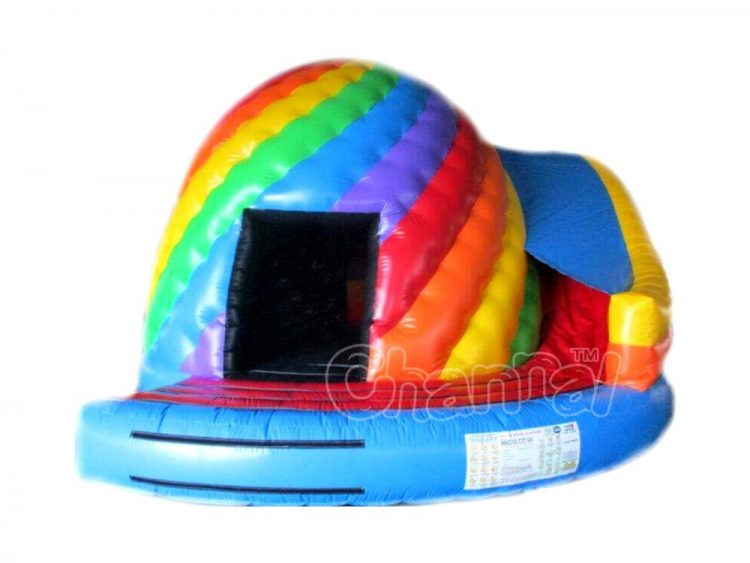 rainbow twister dome slide combo
