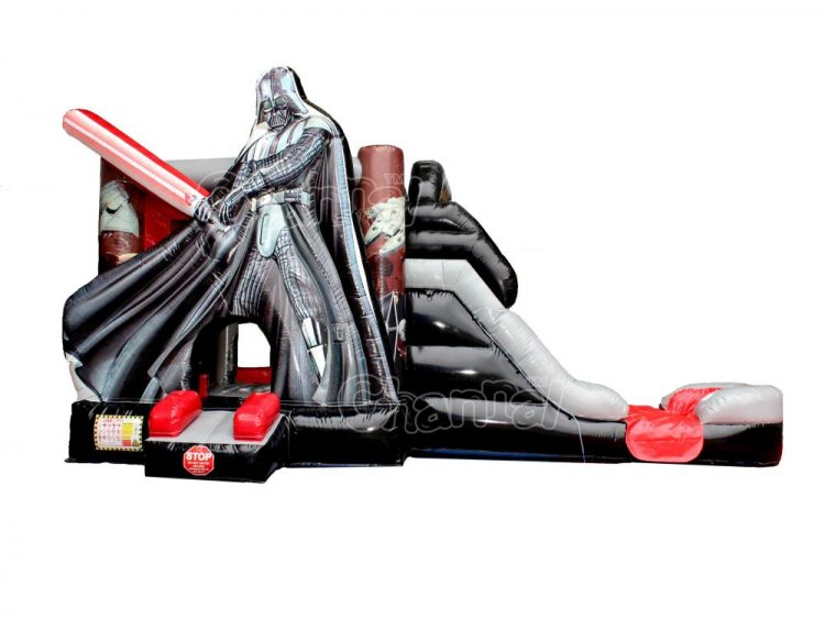 darth vader inflatable bounce house with water slide