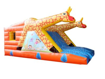 giraffe bounce house combo with slide