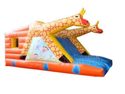 giraffe bounce house combo with slide