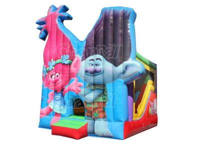 trolls bounce house combo with slide