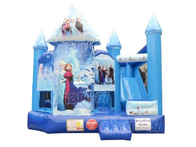 frozen 5 in 1 combo bounce house for sale