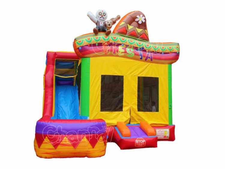 Mexican fiesta water bounce house combo