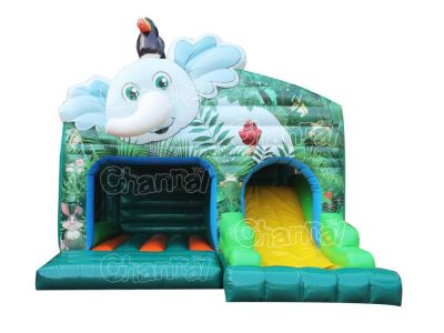 forest animals inflatable combo