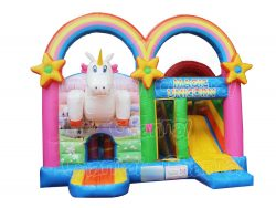 magic unicorn inflatable combo