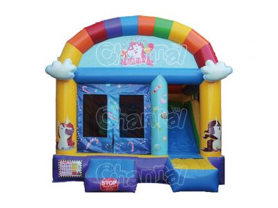 happy unicorn inflatable combo