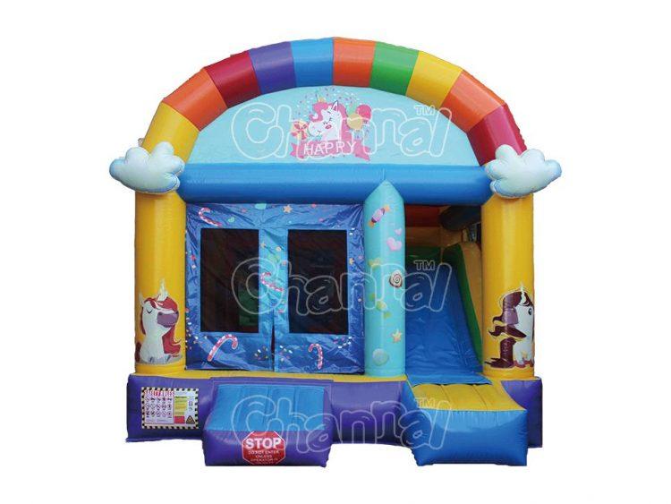 happy unicorn inflatable combo