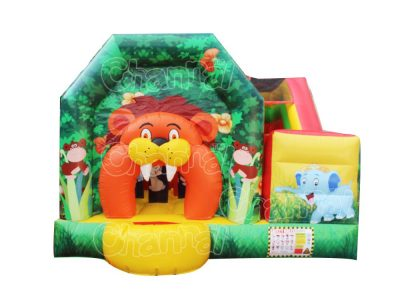 forest zoo inflatable combo