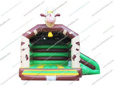 cow inflatable combo with slide