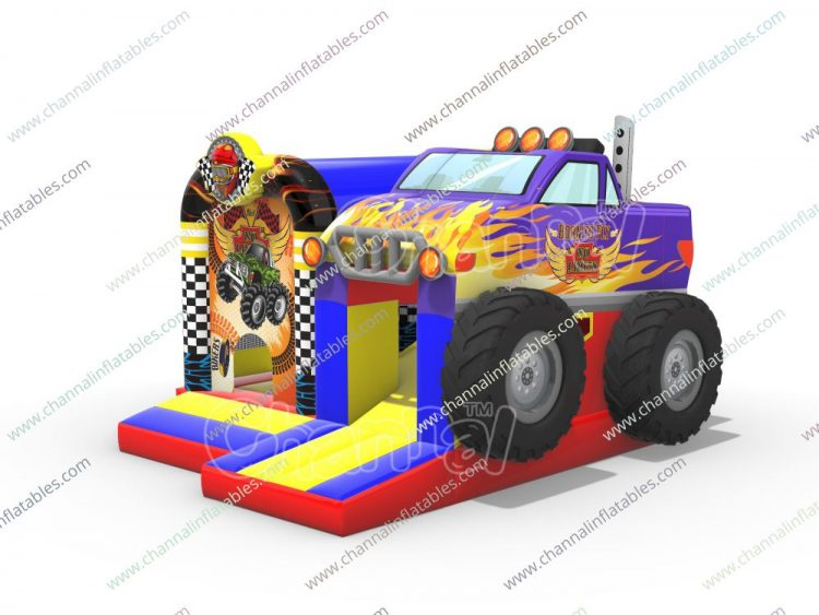 monster truck inflatable combo