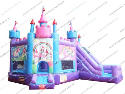 princess and unicorn bouncy castle