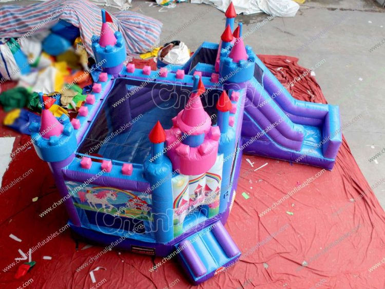 princess unicorn castle combo with slide