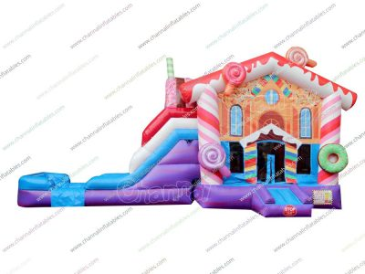 candy house inflatable water bouncer
