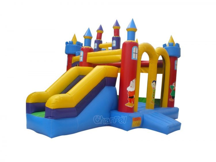snow white bounce house with slide