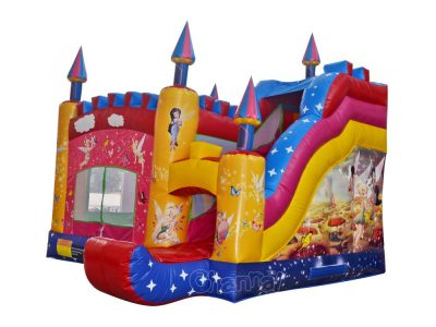 tinkerbell bounce house with slide
