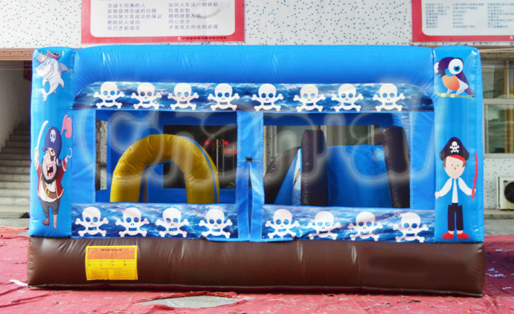 blue pirate skull inflatable combo