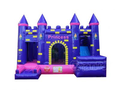 princess castle inflatable combo