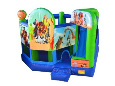 Madagascar movie themed 6 in 1 inflatable combo
