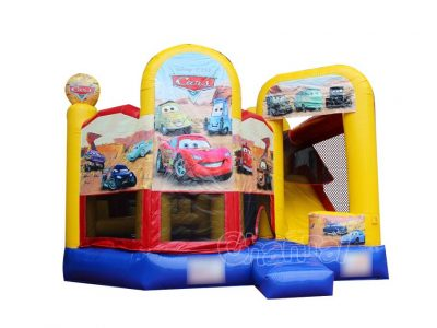 cars 6 in 1 inflatable bounce house combo