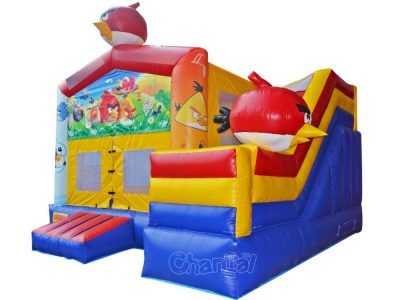 angry bird bounce house inflatable combo with slide
