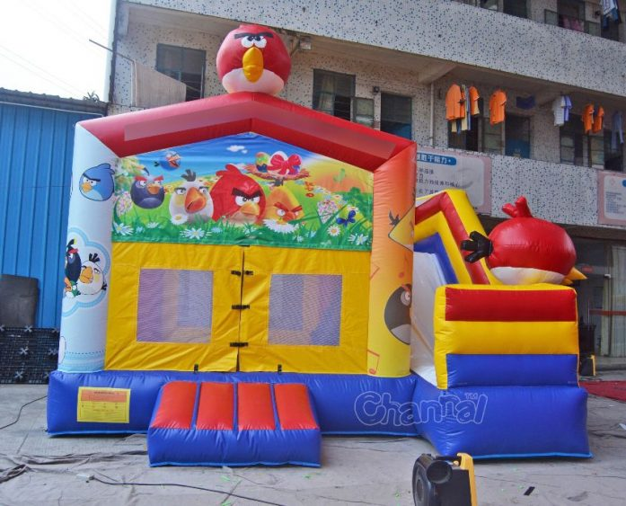 angry bird bouncy house with slide
