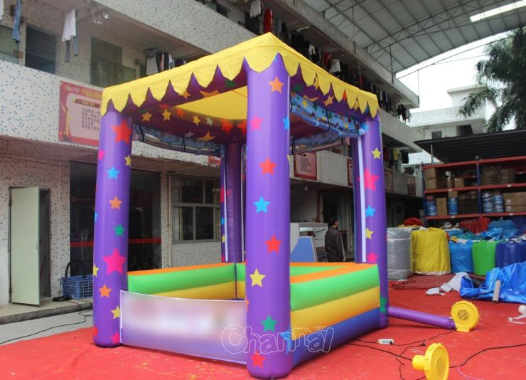 cute inflatable kiosk booth tent