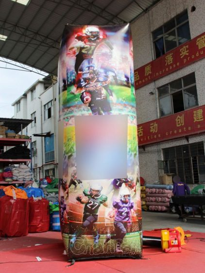giant inflatable football pillar decoration