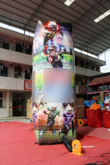 football inflatable pillar for advertising