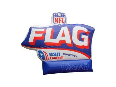 custom inflatable flag football branding for sale
